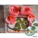 Розы, каллы из маршмеллоу