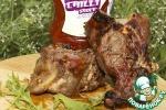 Ребрышки молодого барашка, маринованные в сладком Чили и Манго соусе и веточках розмарина