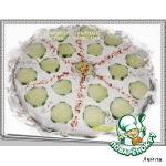 Творожно-сырный террин с огурцами