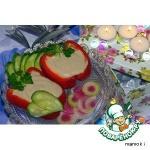 Перец фаршированный печенью минтая с белой фасолью