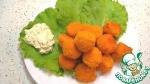 Сырные шарики в кляре с белым соусом