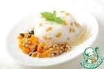 Десерт из риса с курагой