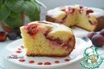 Пирог со сливами в мультиварке