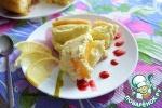 Сладкий киш с творожным суфле и персиками в мультиварке