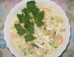 Салат из кальмаров креветок с яйцом и ананасами рецепт приготовления