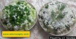 Луковый салат с яйцом