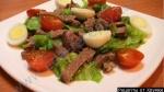 Рецепт Салат под водочку с говядиной и солеными огурцами с фото