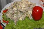 Салат язык картошка зеленый горошек