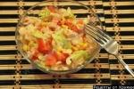 Салат крабовые палочки рис кукуруза и помидоры