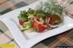 Салат из авокадо с креветками без майонеза