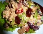 Рецепт Салат из красной фасоли с куриной грудкой с фото