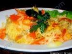 Осенний салат со сладким перцем и капусты