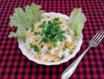 Салат с картошкой фри и курицей