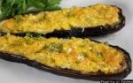 Баклажаны запеченные с сыром и чесноком в духовке
