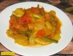 Овощное рагу из кабачков помидор и фасоли