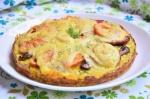 Закусочный пирог с помидорами сыром и кабачками