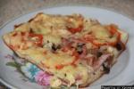 Пицца на жидком тесте на кефире без дрожжей  рецепт с фото