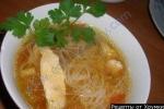 Суп китайский с рисовой лапшой