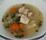 Рыбный суп уха из сазана
