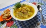 Постный суп в мультиварке с чечевицей