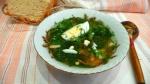 Суп из щавеля и крапивы с яйцом