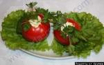 Как приготовить gомидоры фаршированные сыром и чесноком с зеленью