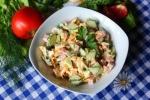 Салат простой с ветчиной, морковью, сыром