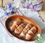 Куриные рулетики с рисовым миксом и грибами