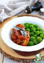 Котлеты из гречки в томатном соусе с грибами
