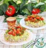 """Мясной салат с кабачком и соусом """"Летний"""""""