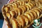 Тарт с миндалем и персиками