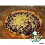 Пирог дрожжевой с начинкой из черной смородины и сметанной заливкой