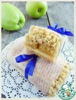 Овсяно-песочные батончики с яблоками