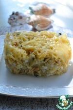 Пшенная запеканка с семгой и сыром