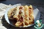 Блины с сыром и копченым мясом