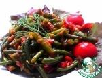Жареные чесночные стрелки с овощами