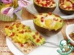 Запеченные яйца в авокадо