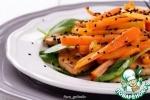 Морковь с жареным тофу и апельсиновым соусом