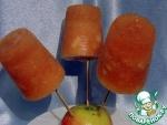 Яблочный фруктовый лёд с грушей
