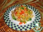 Салат с брокколи и баклажаном