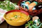 Овощной суп с красной чечевицей и рисом