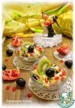 Салат фруктовый с говядиной-гриль