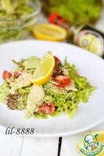 Салат из рыбы с луковой заправкой