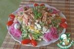 Салат из горбуши с болгарскими перцами