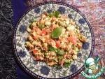 Салат с пшеном и чечевицей