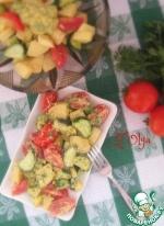Овощной салат с заправкой по-швейцарски