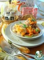 Курица в бульоне с морковью и кабачком