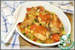 Курица с овощами в пивном соусе