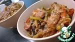 Курица с овощами в воке