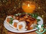 Куриные рулетики, фаршированные гречкой и морковью